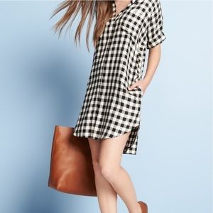 MADEWELL courier shirt dress in buffalo check